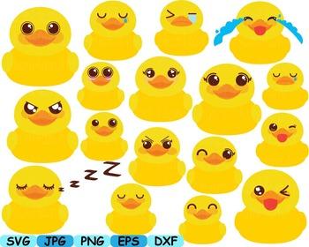 Ducks Kawaii emoji Cutting clip art baby shower bath tup C