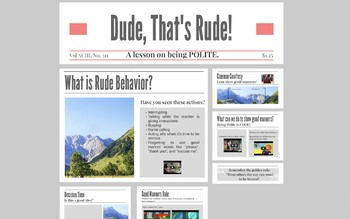 Dude that's Rude! A prezi lesson on Good Manners and being polite