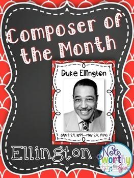 Duke Ellington Composer of the Month Bulletin Board Set {Y