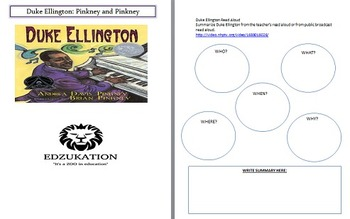 Duke Ellington Pinkney Common Core Reading Comprehension U