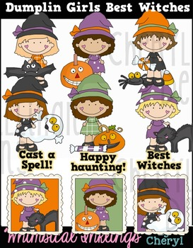 Dumplin Girls Best Witches Clipart