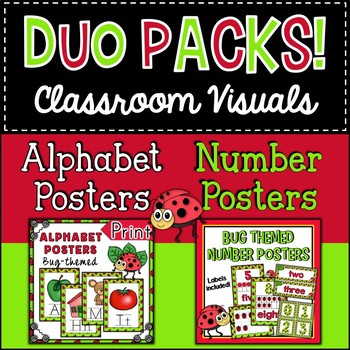 Duo Pack Bugs Alphabet and Number Posters