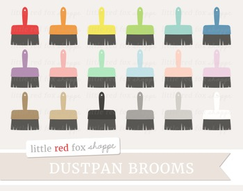 Dustpan Broom Clipart; Cleaning