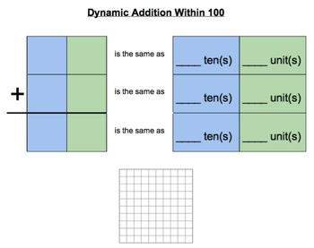 Dynamic Addition within 100