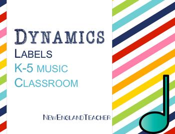 Dynamic Labels for Elementary Music Decor or Bulletin Boar