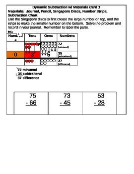Dynamic Subtaction Center Cards