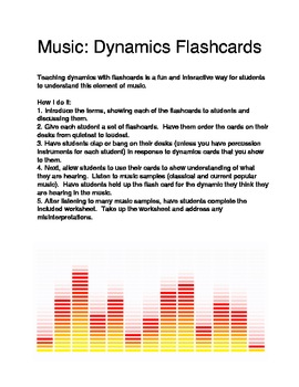 Dynamics Flashcards and Lesson