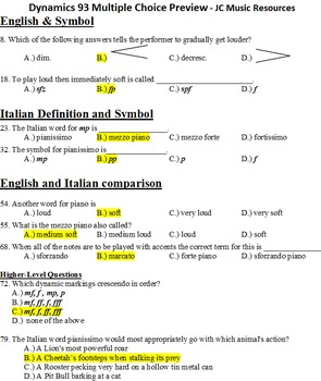 Dynamics 93 Multiple Choice Questions Master List