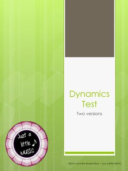 Dynamics Tests (2 versions)