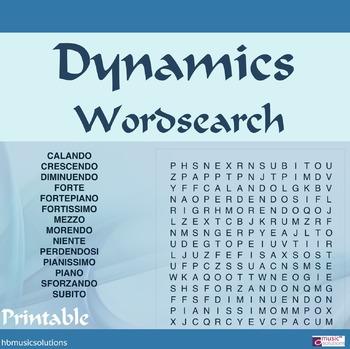 Dynamics Wordsearch