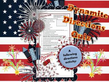 Dynamite Directions Activity
