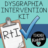 Dysgraphia Intervention Kit, RTI, Intervention, SPED, Lear