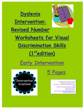 Dyslexia Intervention:  Number Visual Discrimination Skill