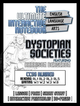 Dystopia Interactive Notebook Unit - Lesson, Activities, S