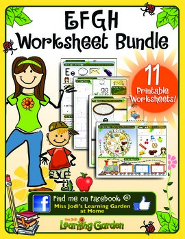 Ee, Ff, Gg & Hh Worksheet Bundle