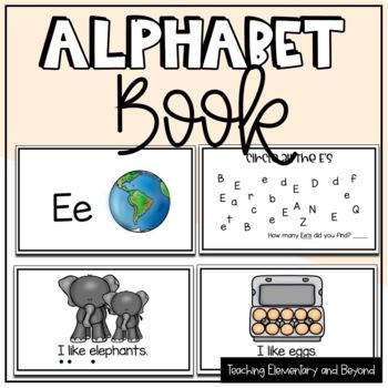 Alphabet Books: Freebie Letter E & Activities {Freebie}
