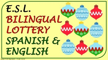 """E.S.L. -""""Christmas Vocabulary"""" in English & Spanish. Lotte"""