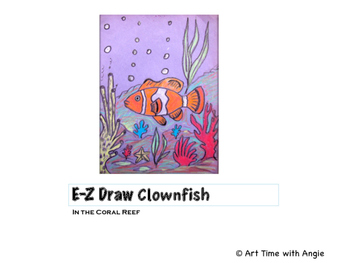 E-Z Draw Clownfish in the Coral Reef