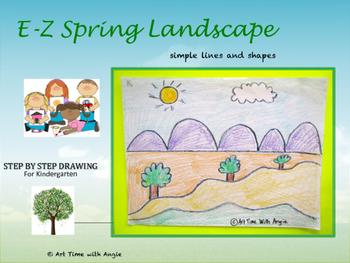 E-Z Spring Landscape Art Activity