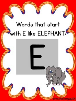E and H Initial Consonant Sort