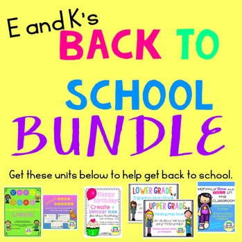 E and K's BACK TO SCHOOL BUNDLE