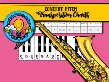E flat to Concert Pitch Transposition Chart for Alto Saxophone