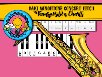 E flat to Concert Pitch Transposition Chart for Bari Saxophone
