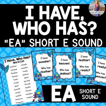 "EA Short E ""I Have, Who Has?"" *FREE*"