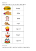 EAL Literacy Topic 7 - Party food