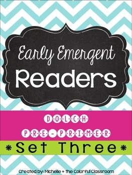 EARLY Emergent Readers: Dolch Pre-Primer Sight Words {{SET