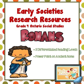 EARLY SOCIETIES Research Resources- Grade 4 Ontario Social