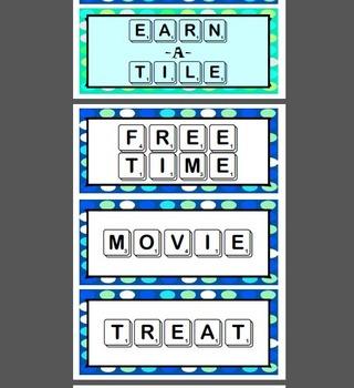 EARN A TILE classroom management reward system