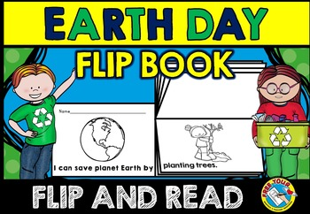 EARTH DAY ACTIVITIES: EARTH DAY FLIP BOOK: CONSERVATION OF