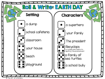 EARTH DAY Freebie: Roll & Write A Story