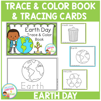 EARTH DAY Trace & Color Book + Tracing Cards Fine Motor Skills