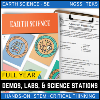 EARTH SCIENCE Demos, Labs & Science Stations BUNDLE