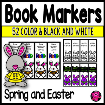 EASTER and SPRING DUCK and RABBIT THEME BOOK MARKERS