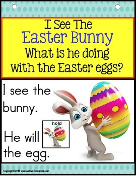 EASTER ACTIVITIES: Easter Bunny Building Sentences with Verbs