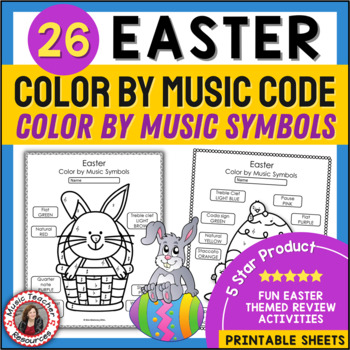 EASTER Color by Music Symbols