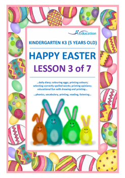 EASTER - Lesson 3 of 7 - Kindergarten 3 (5 Years Old)