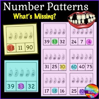 EASTER Math Center Activity Complete Missing Numbers Patte