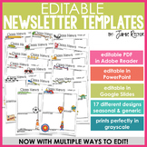 EASY EDIT Newsletter Templates {Click, Type, and Print}