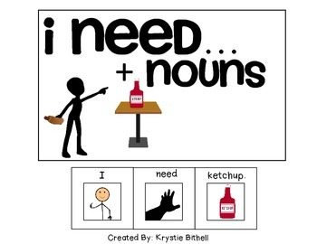 EASY READER... I need + Nouns Adapted Book Special Educati