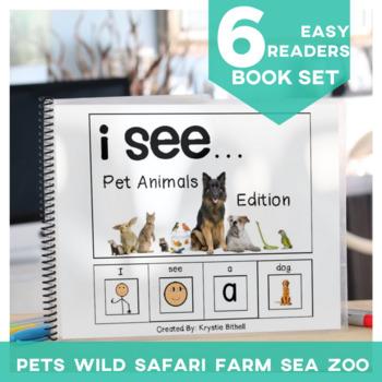 EASY READER I see... Animal 6 Book BUNDLE  Adapted Book