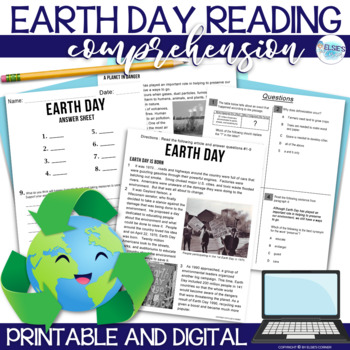 Earth Day Reading Comprehension - Informational Text * Que