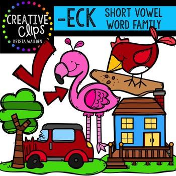 ECK Short E Word Family {Creative Clips Digital Clipart}