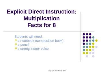 EDI Common Core Multiplication Lesson and Fact Practice x8