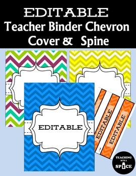 EDITABLE 21 Teacher Binder, Dividers, Planner and Binder S