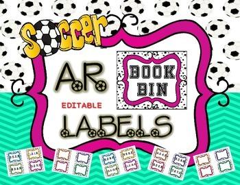 EDITABLE - AR Book Bin Labels Soccer Theme