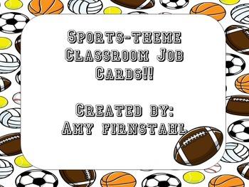 EDITABLE Baseball-theme Classroom Job Cards!!